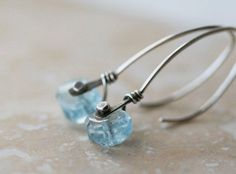"""Aquamarine and silver riveted earrings - on my """"to buy"""" list!"""