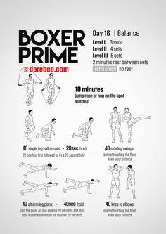 boxer prime 30day fitness program  darebee  pinterest