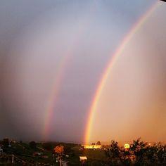 Doppio arcobaleno a #Sciacca