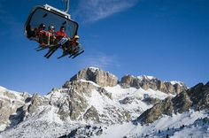 The Sella Ronda, the circuit around the Sella massif on skis and using ski lifts, is the best-known ski tour in the Dolomites. In just one day, you can ride some 40 kilometres (24 mi) of runs without ever having to take your skis off and without ever riding the same slope twice.