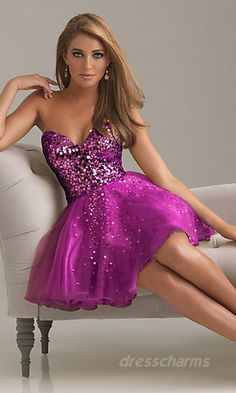 flirty cocktail dress with stunning strapless sparkle and sheerness...AMAZING color <3