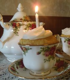I love tea, teacups, teapots, the elegance of it all ~ High Tea is easy, and makes your guest feel so special. No guests? Have Tea in a Bubble Bath, you deserve the Royal Treatment!