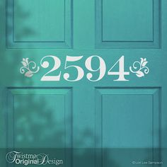 creative house number ideas | ... TWIST!: Twistmo Tuesday: I've got your number! House Number Door Decal