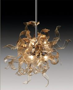 Contemporary Glass Lighting by AndromedA - Nastro glass hanging lamps