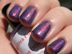 Dangerous Driver (linear holographic/red to green color shifting) Nail Polish. $12.00, via Etsy.