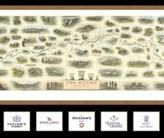 The New Illustrated Map of the Douro offered at London Christie's with a substantial collection of Noval Nacional, Graham's, Taylor's and Fonseca Port wines