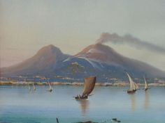 19th century gouache on paper from the neapolitan school.