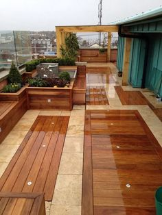 Finding the Best Ideas Rooftop Deck Design Roof Garden If your patio is large, you might decide to make gravel patches to separate distinctive spaces. Once you know how you want your patio to look, it's time to pick which… Continue Reading → Design Patio, Rooftop Design, Garden Design, House Design, Tile Design, Balcony Flooring, Outdoor Flooring, Flooring Ideas, Wood Flooring