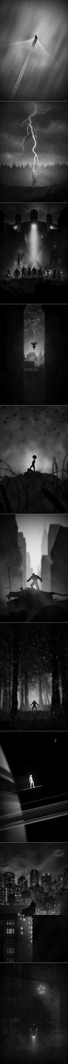 Eerie superhero posters http://www.reddit.com/r/pics/comments/1qtvsh/eerie_superhero_posters/: