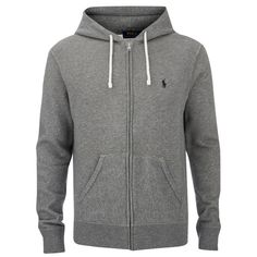 Polo Ralph Lauren Men's Zipped Hoody - Basecamp Heather ($175) ❤ liked on  Polyvore