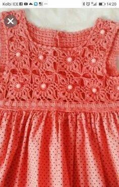 Baby Knitting Patterns, Toddler Dress Patterns, Crochet Baby Dress Pattern, Baby Cardigan Knitting Pattern, Crochet Yoke, Knitted Romper, Cute Crochet, Beautiful Crochet, Crochet Toddler