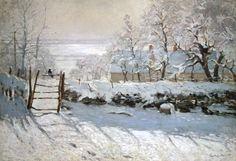 Afbeelding Claude Monet - De ekster, claude monet