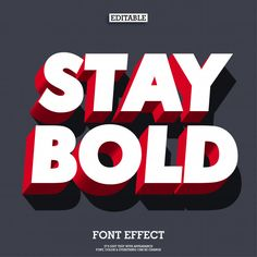 Bold and strong red font effect Graphic Design Fonts, Text Design, Lettering Design, Logo Design, Creative Typography Design, Bold Logo, Bold Fonts, Letras Abcd, Strong Font