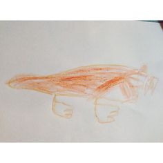 A sabre-tooth tiger by Daniel age 5 and a half. Inspired by our trip to the Natural History Museum more on the blog