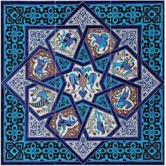Turkish Tiles, Turkish Art, Islamic Tiles, Islamic Art, Islamic Patterns, Tile Patterns, Geometric Box, Turkish Design, Iranian Art