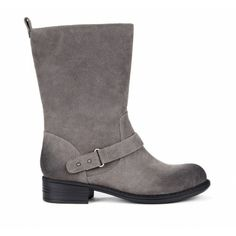 Gray for fall. Motorcycle boots - Aileen