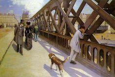 Gustave Caillebotte (French 1848–1894) [Impressionism] Le Pont de l'Europe (The Europe Bridge), 1876. Oil on canvas, 125 cm × 181 cm. Musée du Petit Palais, Geneva.