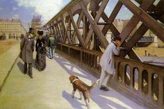 The Europe Bridge -  oil painting by French impressionist Gustave Caillebotte completed in 1876. It is held by the Musée du Petit Palais in Geneva, Switzerland.