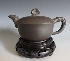 Vintage Chinese Yixing Zisha teapot, signed