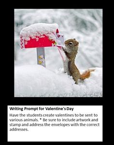 Writing Prompt for Valentine's Day Photo Writing Prompts, Journal Writing Prompts, Writing Pictures, Writing Prompts For Kids, Narrative Writing, Kids Writing, Writing Activities, Sentence Writing, Story Prompts