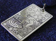 Pendant  Tarot Card The Star Tarot 17th card