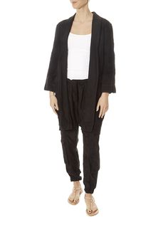 This is the 'Sadie' Heavy Black Linen Coat by stunning brand Johnny Was. Johnny Was Clothing, Leopard Dress, Basic Tops, Black Linen, Fashion Seasons, Striped Shorts, Yellow Dress, Sadie, Cardigans