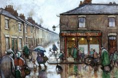 Pictures of Norman Cornish and paintings by the County Durham artist - Chronicle Live Norman Cornish, Nostalgic Pictures, Social Realism, British Travel, Urban Life, Art Uk, Art For Art Sake, City Streets, Art Pictures