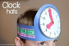Activities for First Grade FREE clock hat templates. Great telling time activity for young learners! Great telling time activity for young learners! Telling Time Activities, Teaching Time, Student Teaching, Math Activities, Teaching Clock, Second Grade Math, First Grade Classroom, Math Classroom, Kindergarten Math