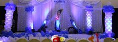 blue and purple birthday party balloons decoration ideas