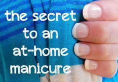An at-home manicure is possible with these steps and products! from twobusybrunettes