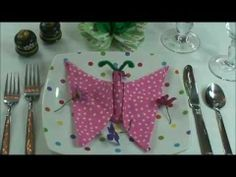 Video: Napkin Folding: How to fold My Butterfly.