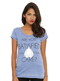 Disney Big Hero 6 Baymax Are You Satisfied Girls T-Shirt,