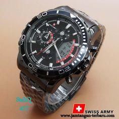 SWISS ARMY 1524 FULL BLACK - Jam Tangan Terbaru  062b8b5281