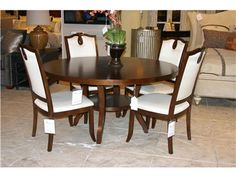 """Shop for Goods Furniture Outlet - Hickory HGTV Classic Chic 60"""" dining table and 4 side chairs by Bassett, 4280-6060/TB60, and other Dining Room Dining Tables at Goods Home Furnishings in North Carolina Discount Furniture Stores Outlets. Item Location: Hickory Store - Phone: (828) 855-3220    Limited availability. Please call for details.    Some items may be part of a set or group which can only be sold together."""