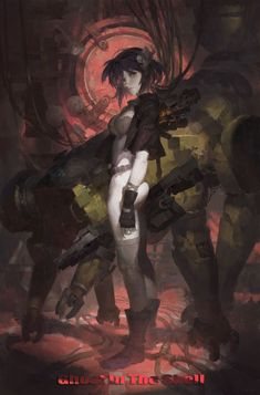 grafika motoko kusanagi, ghost in the shell, and major Arte Cyberpunk, Manga Anime, Manga Art, Art Et Illustration, Illustrations, Anime Ghost, Star Academy, Masamune Shirow, Motoko Kusanagi
