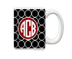 Black Red Bubbles Coffee Mug from Paper Concierge