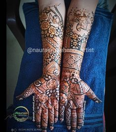 Beautiful Henna Designs, Hand Henna, Hand Tattoos