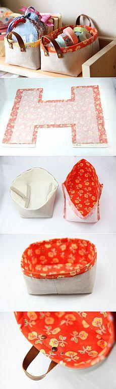 Корзины для хранения вещей своими руками. Текстильный короб выкройка | Все о рукоделии: схемы, мастер классы, идеи на сайте labhousehold.com