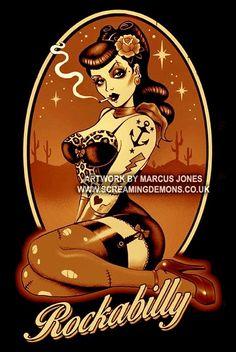 NEWS of the day! mini tattooed pin-up sticker rockabilly inscription auto . Pinup Art, Rockabilly Artwork, Rockabilly Tattoos, Rockabilly Baby, Rockabilly Fashion, Rockabilly Style, Rockabilly Shirts, Pin Up Girl Tattoo, Pin Up Tattoos