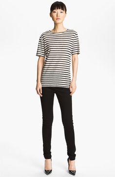 [Stripe Linen Tee - T by Alexander Wang @ Nordstrom] Linen/silk blend and longer sleeves!