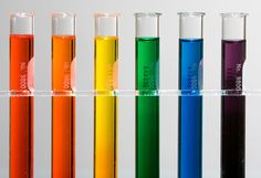 What is colourblindness? Here are six test tubes filled with coloured dyes. How many different colours do you see? Most people say six, but...