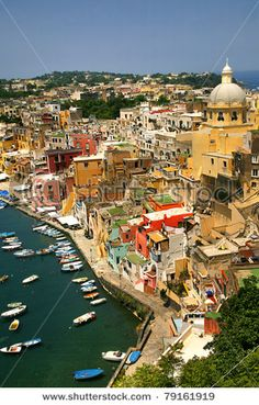 Corricella - Procida, beautiful island in the mediterranean sea, naples - Italy