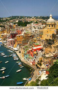 Corricella | Procida | Ilha maditerrânea de Nápoles | Itália