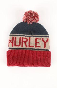 Mens Hurley Hats - Hurley Alley Pom Beanie 66dba9087bfd