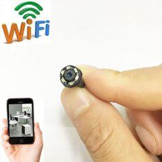wireless network WIFI IP HD tiny pinhole mini DIY spy hidden camera DVR recorder