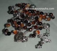 Botswana Agate Gemstone Rosary