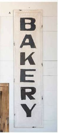 Metal Bakery Sign Available At Tin Star Furniture In Denison! IN STOCK,  Quantities Limited.