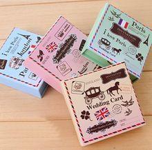6 pçs/set DIY Vintage London Paris selos de madeira cavalo Retro clássico selo para Scrapbooking decoração diário grátis frete 1072(China (Mainland))
