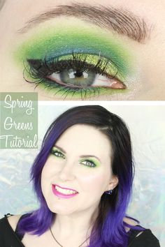 Spring Greens tutorial featuring Sugarpill, Makeup Geek, Notoriously Morbid, Too Faced and Urban Decay!