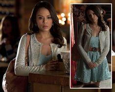 Mona's lace dress on PLL